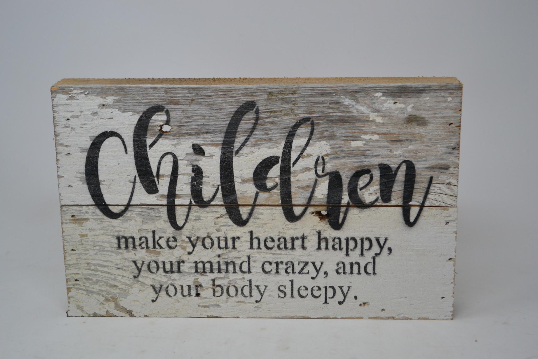 Children Reclaimed Pallet Sign