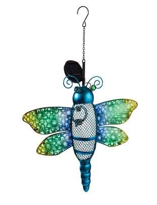 Solar Hanging Dragonfly Birdfeeder