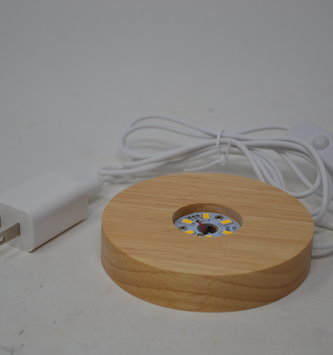 Wooden Electric Light Base