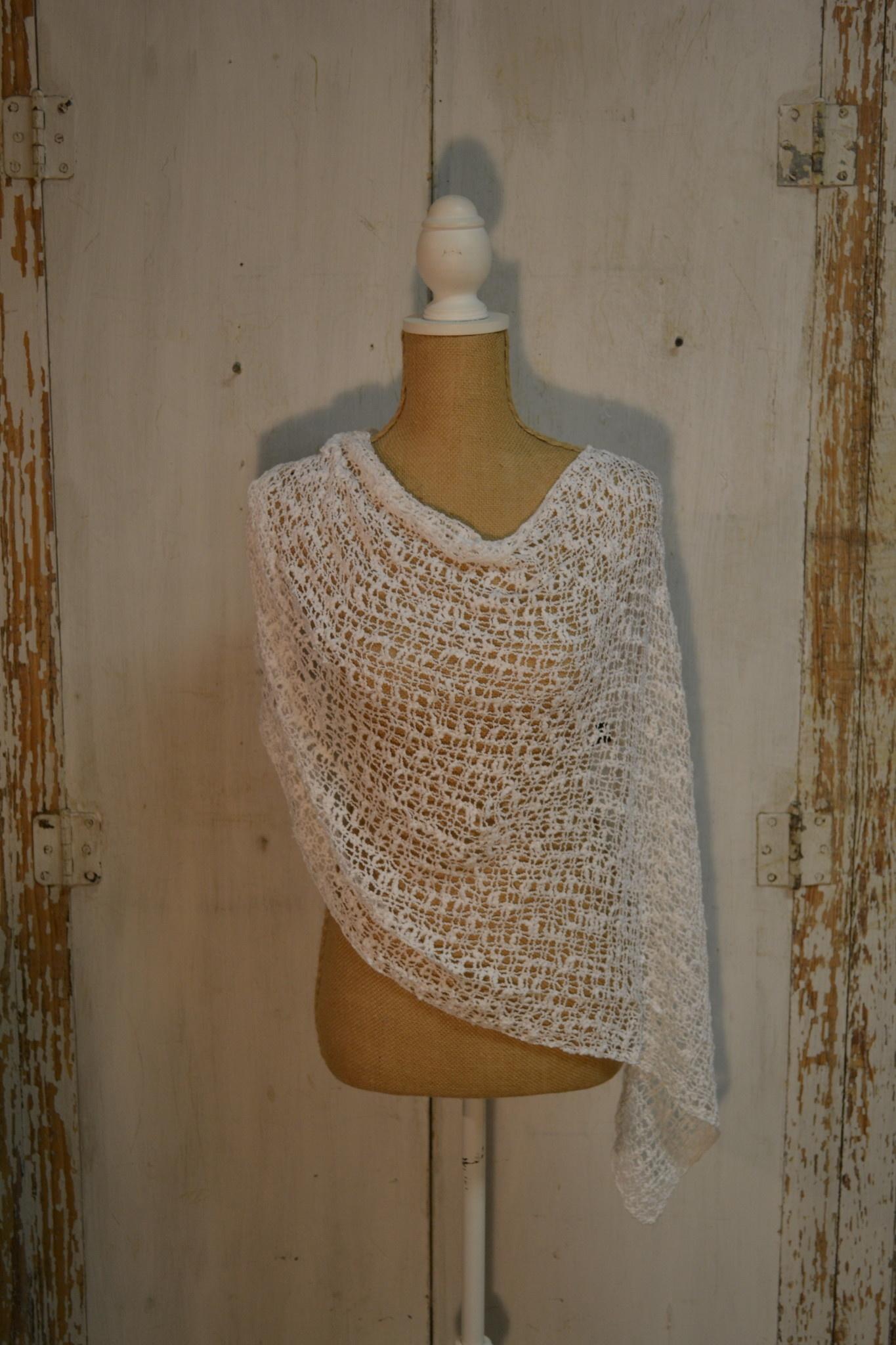 Seaside Open Weave Poncho