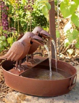 Farm Tub Double Crow Fountain