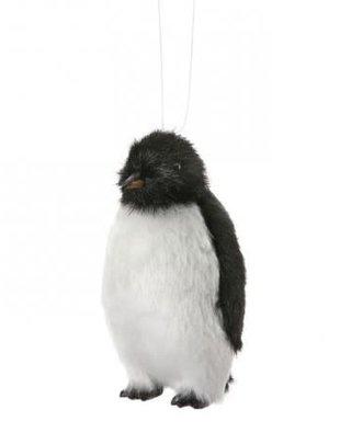 Furry Penguin Ornament