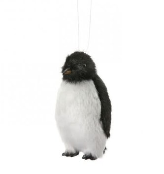 Furry Penguin Ornament