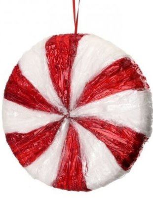 """9"""" Peppermint Candy Ornament"""
