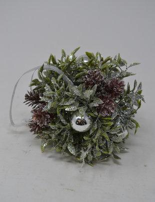 "5"" Shimmer Tea Leaf Ball Ornament"