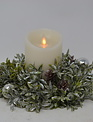 """8"""" Shimmer Tea Leaf Candle Ring"""