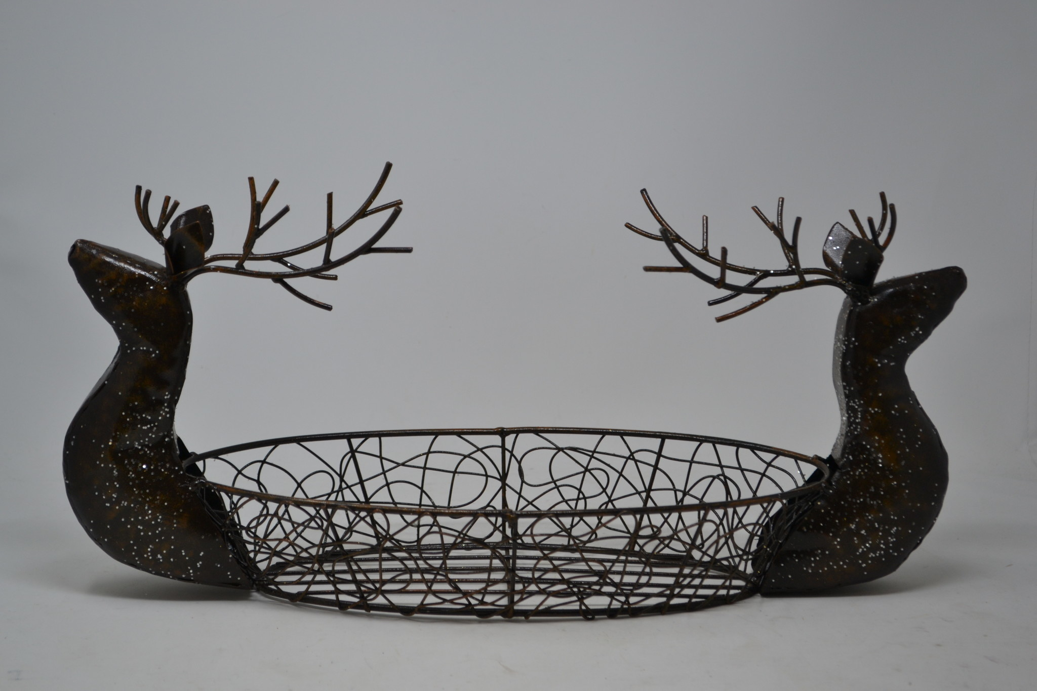 Double Deer Head Wire Bowl
