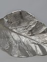 """16"""" Cast Aluminum Silver Leaf Tray"""