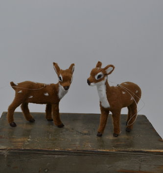 Furry Fawn Ornament (2 Styles)