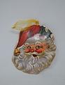 Metal Santa Face Ornament