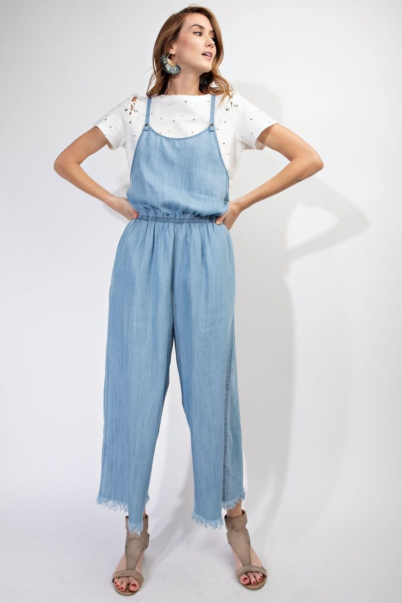 Prewashed Denim Jumpsuit Light