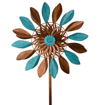 Blue Bronze Petal Wind Spinner