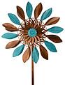 Blue Bronze Petal Wind Spinner