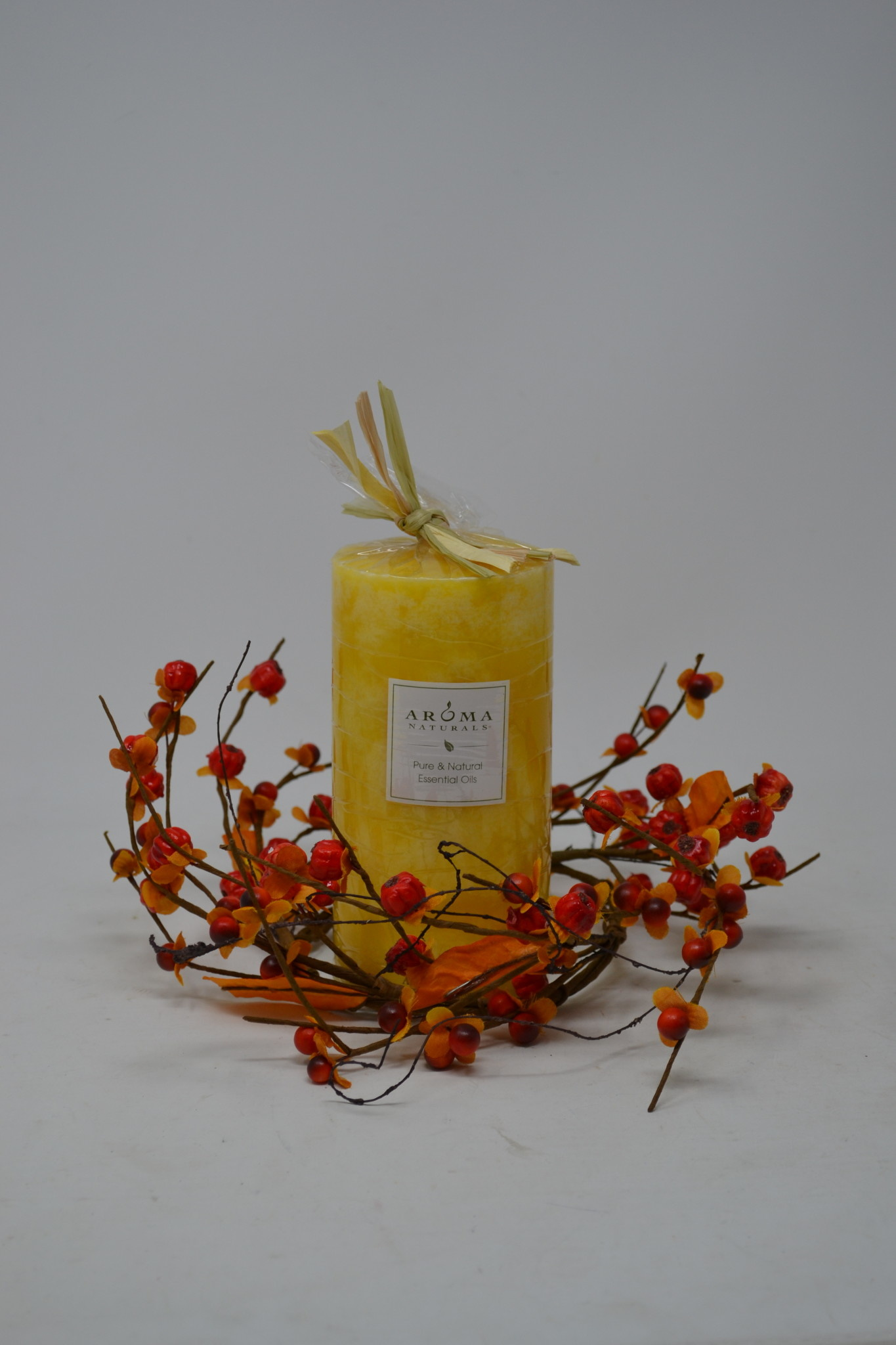 Fall Bittersweet Candle Ring
