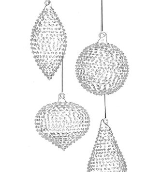Dotted Glass Ornament (4 Styles)