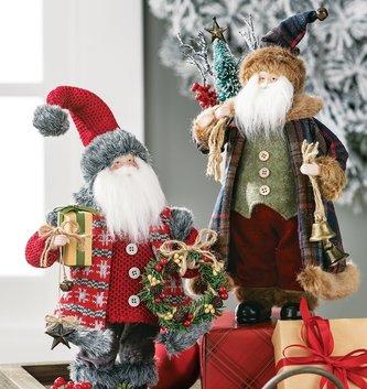 """12"""" Tabletop Standing Santa (2 Styles)"""