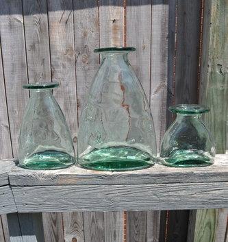 Recycled Glass Garden Vase
