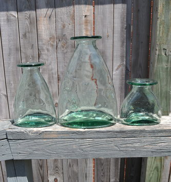 Recycled Glass Garden Vase