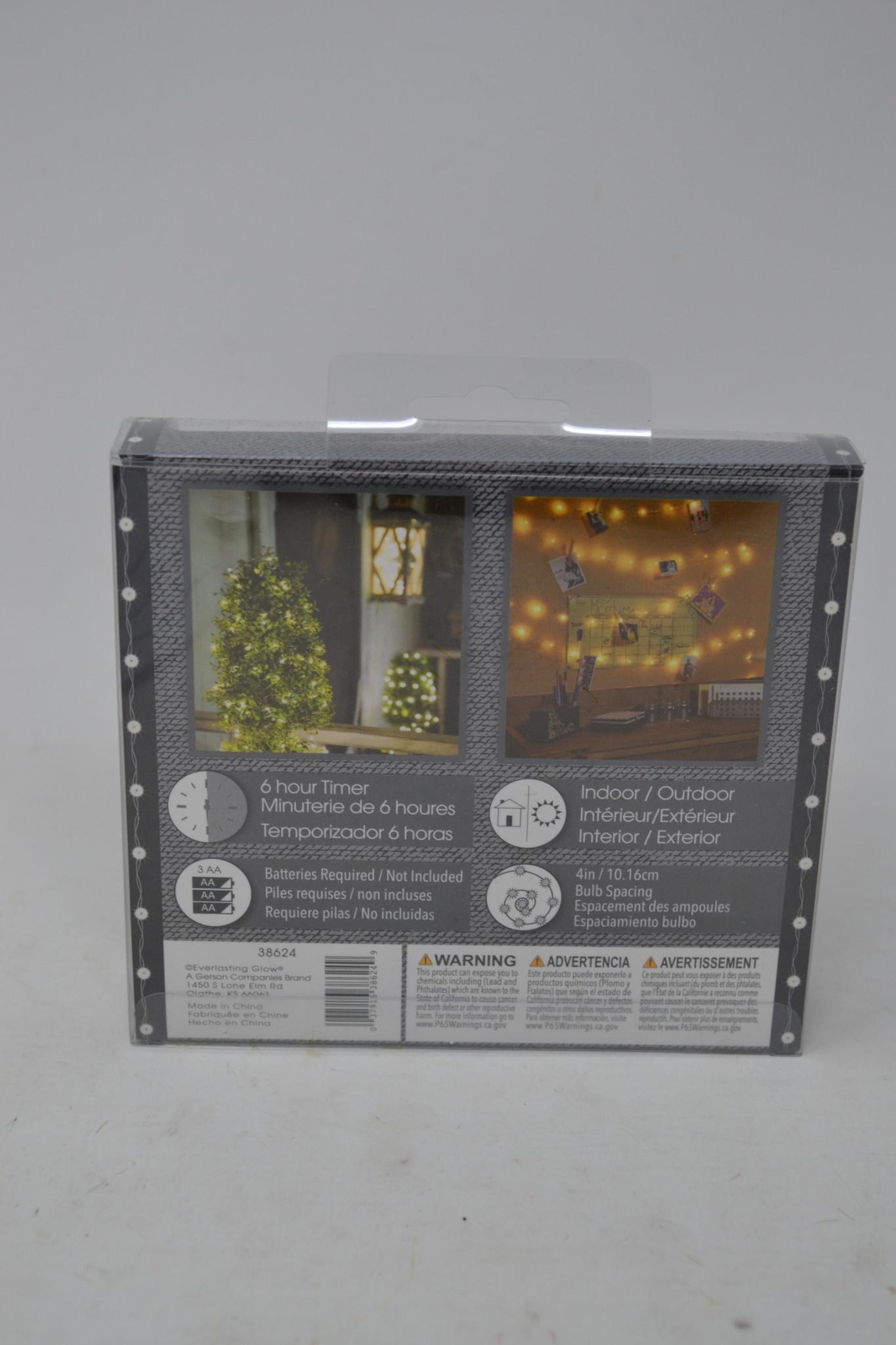 20' LED String Lights Battery