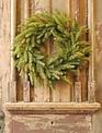 """22"""" White Spruce Pine Wreath"""