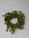 "9"" White Spruce Pine Candle Ring"