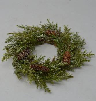 Snowed Pine Candle Ring