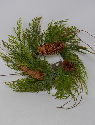 Cedar Pinecone Candle Ring