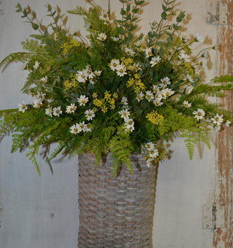 Custom Woven Basket Arrangement