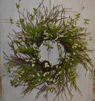 Custom Willow Bliss Twig Wreath