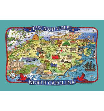 Teal NC Tea Towel