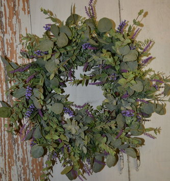 Dusty Lavender Eucalyptus Wreath