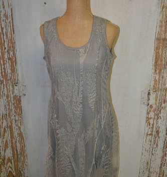 Sheer Fern Overlay Dress