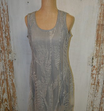 Sheer Fern Overlay Dress