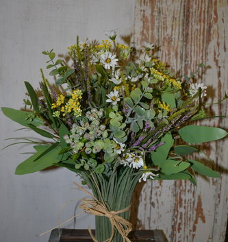 Eucalyptus Wildflower Grass Vase