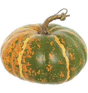 Wide Green Orange Speckled Pumpkin