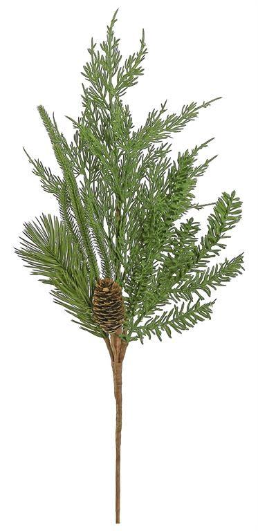 Christmas Greenery Images.Mixed Greenery Pinecone Spray Christmas Greenery The Last Straw