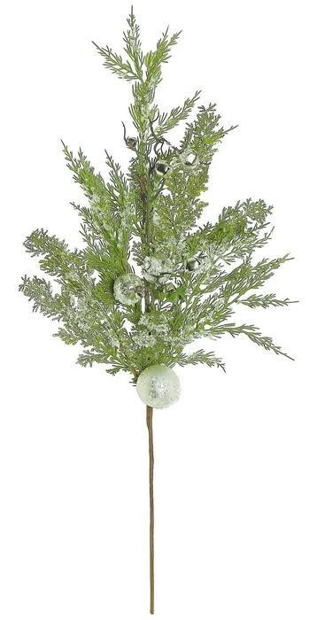 Christmas Greenery.Iced Cedar Holiday Spray Christmas Greenery The Last Straw