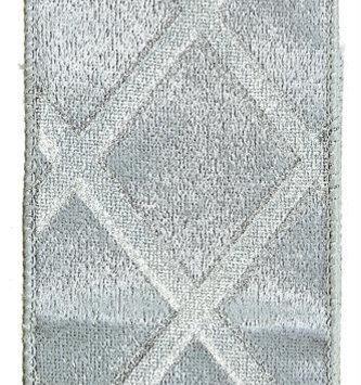 Silver Velvet Lattice Ribbon