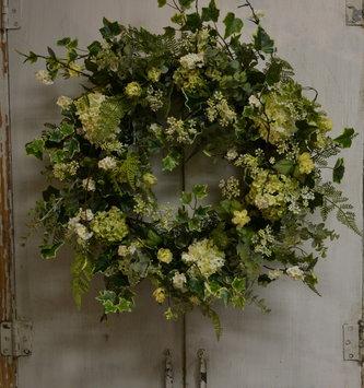 Variegated Ivy Custom Snowball Wreath