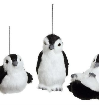 "6"" Furry Baby Penguin Ornament (3 Styles)"