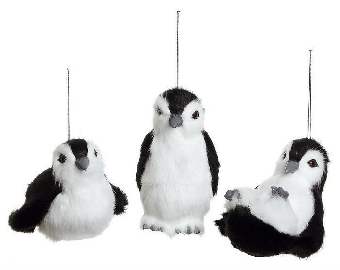 "6"" Furry Baby Penguin Ornament"
