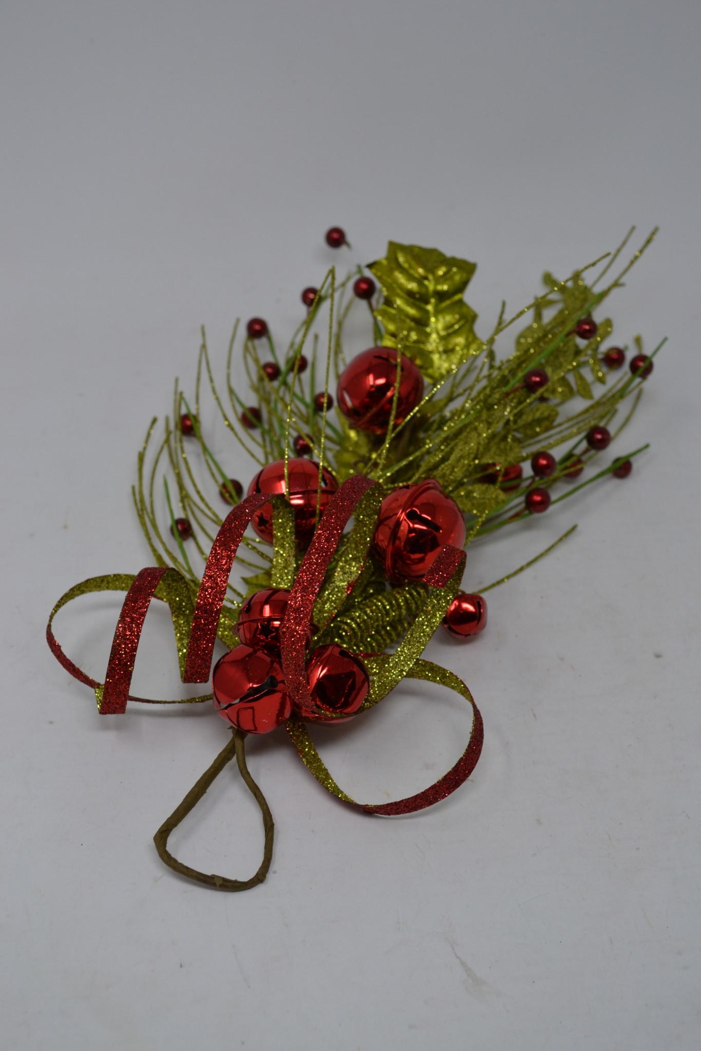 "14"" Glitter Pine Jingle Bell Swag"