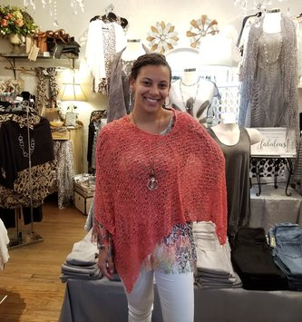 Seaside Open Weave Poncho (12-Colors)