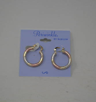 Tricolor Metal Hoop Earrings