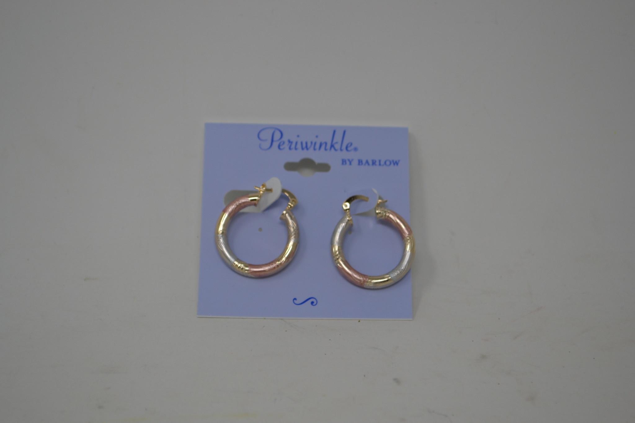 Tricolor Metal Hoop Earrings