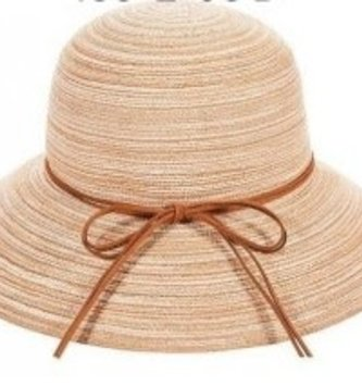Straw Hat w/ Leather Tie (2 Colors)