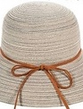 Straw Hat w/ Leather Tie