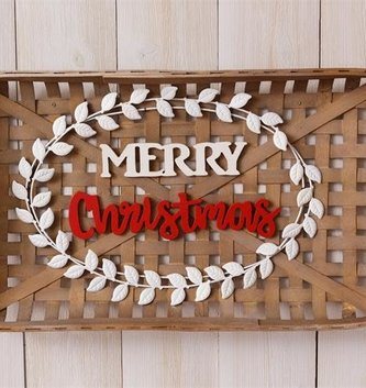 Merry Christmas Tobacco Basket Sign