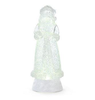 LED Beaded Santa Snow Globe