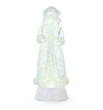 LED Beaded Santa Snow Globe